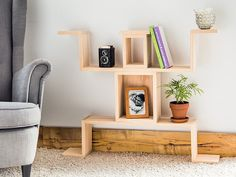 This shelf kid, discovered by The Grommet, adds a sense of fun and creativity to any room.