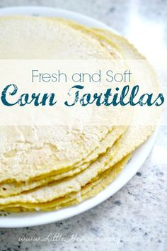 Homemade Corn Tortillas Recipe. These delicious corn tortillas are SO easy to make and SO much cheaper than buying them at the store. We make these every week!