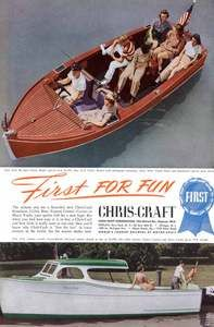 Chris Craft Vintage Advertising Antique and Classic Boats