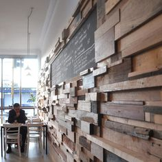 woodblock wall treatment
