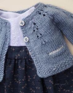 Best 12 Baby Emily Knitting pattern by Stella Ackroyd – SkillOfKing. Baby Sweater Knitting Pattern, Cardigan Pattern, Baby Knitting Patterns, Skirt Knitting Pattern, Knitted Baby Cardigan, Knitted Dolls, Crochet Dolls, Baby Sweaters, Clothing Patterns