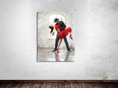 Dit prachtige tango dans schilderij is nu in de aanbieding bij Schilderijenshop! Fleur je interieur op met dit romantische plaatje.