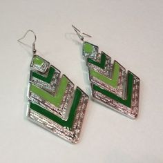 Green Tribal Earrings · ALM Fashionista · Online Store Powered by Storenvy