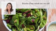 Recette d'une salade arc-en-ciel Ayurveda, Arc, Ciel, Sprouts, Spinach, Vegetables, Food, Salad, Recipe