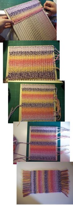 simple looms, finishing techniques, fringe, color