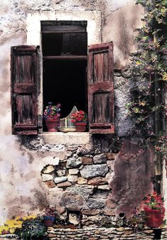 Birdcage In The Window by Martin Roberts, Giclee on Canvas (Gallery Wrap) - Subject: Architecture Watercolor Landscape Paintings, Landscape Art, Watercolor Paintings, Cool Doors, Unique Doors, Vintage Doors, Rustic Doors, Old Windows, Painted Doors