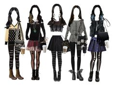One Week At School With Jade West (Victorious) Grunge Outfits, Trendy Outfits, Jade West Style, Jade West Victorious, Looks Dark, Swaggy Outfits, Fashion Design Sketches, Everyday Outfits, Aesthetic Clothes