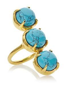 62% OFF Kanupriya Turquoise Triple Dome Ring