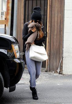 Selena Gomez. Love the beanie, btw ;)