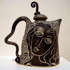 Face Drawing Tea Pot. @Deidra Brocké Wallace