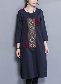 Kurti neck designs with new trend style - ArtsyCraftsyDad Fancy Dress Design, Stylish Dress Designs, Designs For Dresses, Stylish Dresses, Women's Fashion Dresses, Casual Dresses, New Kurti Designs, Kurta Designs Women, Dress Neck Designs