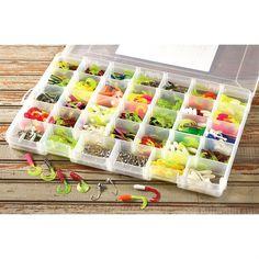 pastels, anyone? 40 pcs fishing kit soft lure bait worm plastic, Soft Baits