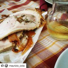 #ricettedibacco le delizie in giro per l'Italia: la #porchettadiariccia grazie a :@maurizio_cola Porchetta di Ariccia dai #castelliromani #ariccia #roma #colliromani #cucinalaziale #cucinaromana #instafood #gastronomieitalienne #gastronomiaitaliana...