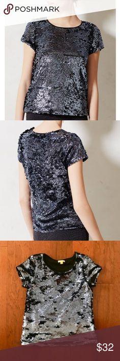 XX//XS Gap Silver Kimono Sequin Top Blouse NWT