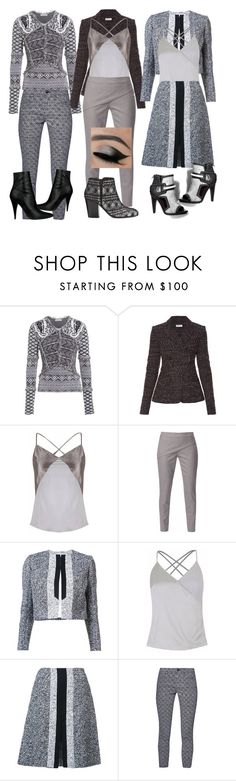 """Grey/Gray"" by denibrad ❤ liked on Polyvore featuring Altuzarra, WtR London, Carolina Herrera and French Connection"