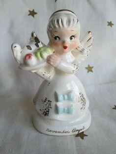 VINTAGE  NAPCO NOVEMBER BIRTHDAY ANGEL-TURKEY