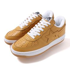 #Bape A Bathing Ape - Ape Sta Mustard #sneakers If you a rapper or singer CLICK HERE and check out my BEATS! New Hip Hop Beats Uploaded EVERY SINGLE DAY http://www.kidDyno.com