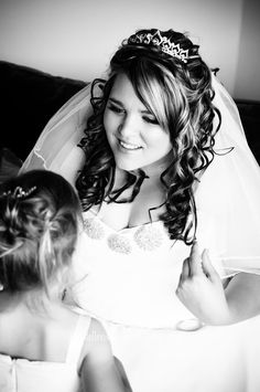 Gorgeous Tiara wearing Bride in Black & White Black Bride, White Weddings, Walking Down The Aisle, Looking For Love, My Favorite Image, Father Of The Bride, Groom, Marriage, Wedding Photography