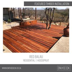 Balau timber is the decking material of choice in humid and wet environments. Laying Decking, Decking Area, Decking Material, Timber Posts, Timber Deck, Easy Deck, Cool Deck, Building Design Plan, Building A Deck