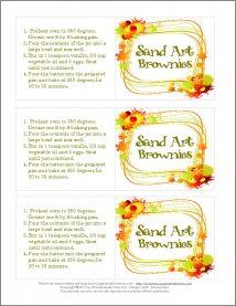 Free Printable Sand Art Brownies Gift Tag - Golden