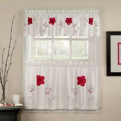 Poppy Garden Window Curtain Valance