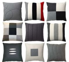 Wool pillows from Lena Bergström and Elsie Arenlind