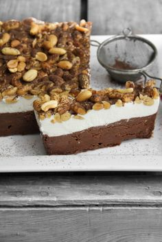 fattiesdelight:    Frozen Chocolate Peanut Butter Terrine