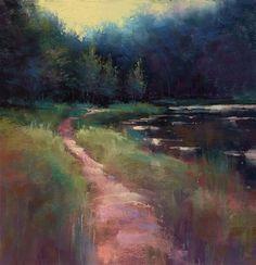 "Daily Paintworks - ""Summer Walk"" - Original Fine Art for Sale - © Marla Baggetta"