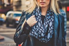 Shar Style By Sharrah Robeson: blue leather.