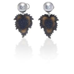 India Carved Agate Leaf Earrings    Moda Operandi (39.240 BRL) ❤ liked on Polyvore featuring jewelry, earrings, leaves earrings, agate jewelry, leaf jewelry, leaf earrings and earring jewelry