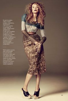 Tribal Chic | Gwen Loos | David Roemer #photography | Glamour Italy February 2012