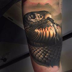 Afbeeldingsresultaat voor snake 3d tattoo