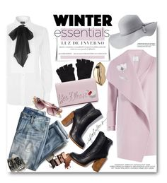 """What Are Your Winter Essentials?"" by hamaly ❤ liked on Polyvore featuring Charlotte Russe, Vince, Polo Ralph Lauren, J.Crew, STELLA McCARTNEY, The Elder Statesman, Kate Spade, Oasis, hatstyle and coats"