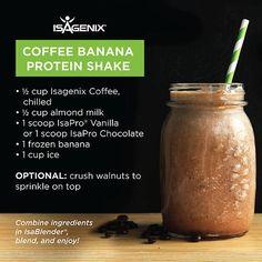 Attn: Coffee Lovers! Yumm-oh! #coffee #banana #protein #shake www.debbieblakemore.isagenix.com