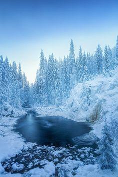 """drxgonfly: """"The Frozen Waterfall Celsius (by Jari Johnson) """" Fantasy Landscape, Winter Landscape, Landscape Photos, Landscape Photography, Beautiful Winter Scenes, Winter Wallpaper, Winter's Tale, Winter Scenery, Winter Beauty"""