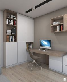 Captivating Study Space Designs Ideas With Contemporary Spirit - Page 15 of . Captivating Study Space Designs Ideas With Contemporary Spirit – Page 15 of 33 From home d Home Office Setup, Home Office Space, Home Office Design, House Design, Office Designs, Workplace Design, Home Office Inspiration, Contemporary Office, Office Interiors