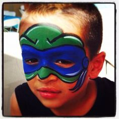 Ninja turtle face paint! Simple and awesome :)