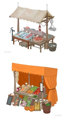 花瓣网- para o filme Frozen Bg Design, Prop Design, Game Design, Environment Concept Art, Environment Design, Isometric Art, Game Concept, Visual Development, Environmental Art