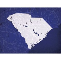 South Carolina | City Prints Map Art
