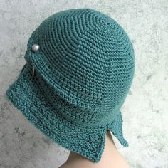 Womens Crochet Hat Pattern Flapper Cloche With by kalliedesigns Boinas cfa44ad889d
