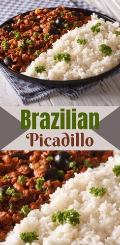 This recipe for a delicious, healthy Brazilian picadillo is a fantastic alternative to chilli con carne. Picadillo is a traditional dish made across Latin America. Most picadillo recipes have a base o Healthy Beef Recipes, Chilli Recipes, Vegetarian Recipes, Meals With Mince Beef, Healthy Mince Recipes, Latin Food Recipes, Beef Mince Recipes, Chilli Con Carne Recipe, Mince Dishes