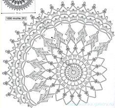 Gelato pattern by Svetlana Grebennikova - Her Crochet Free Crochet Doily Patterns, Crochet Doily Diagram, Crochet Circles, Crotchet Patterns, Crochet Motifs, Thread Crochet, Crochet Dreamcatcher Pattern, Crochet Dollies, Art Du Fil
