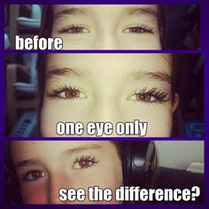 On my daughter who has huge lashes anyway,  but there is a difference!