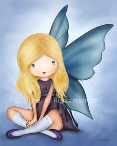 Guardian Angel Art print for girls room nursery decor by jolinne, $15.00