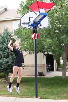 Volleyball Practice Trainer - The SpikeMate is a volleyball training device which will help you learn how to improve your hitting, right at home!