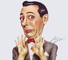 Love the face on this portrait of Pee Wee