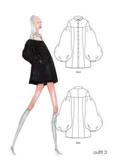 Fashion Portfolio Layout, Fashion Design Sketchbook, Fashion Design Drawings, Fashion Sketches, Fashion Drawing Tutorial, Fashion Figure Drawing, Flat Sketches, Dress Sketches, Fashion Illustration Dresses