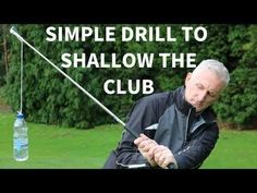 Golf Swing Drills Hitting big blocks to the right or fat irons? You need to shallow your golf swing. Here's everything you need to know about creating a shallow golf swing. Golf 7 R, Play Golf, Sport Golf, Disc Golf, Golf Ball Crafts, Best Golf Clubs, Golf Videos, Golf Instruction, Golf Exercises