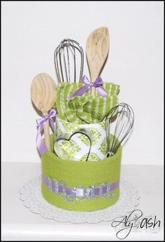homemade kitchen towel cake - Google Search