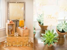 Southern Peach Inspiration with wood crates